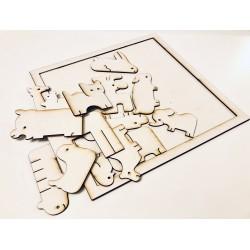 Zwierzęce puzzle -...
